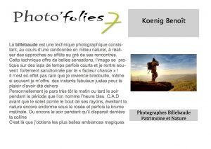 Benoit Koenig Fiche présentation